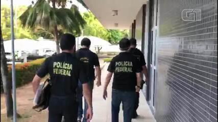Agentes da Polícia Federal no Ceará durante cumprimento de mandados da Lava Jato Eleitoral