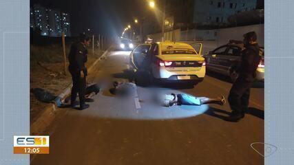 Três adolescentes são apreendidos suspeitos de assaltar e render taxista em Vila Velha