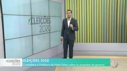 Veja entrevista dos candidatos a prefeito de Natal neste sábado 17/10/2020