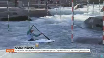Ana Sátila vence a etapa da Eslovênia na Copa do Mundo de Canoagem Slalom