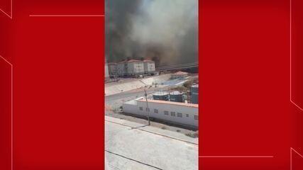 Incêndio atinge região da Serra do Gadelha, em Iguatu, no interior do Ceará.