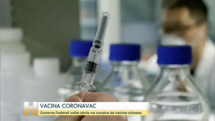 Governo federal voltou atrás nesta quarta sobre compra da CoronaVac, vacina desenvolvida na China