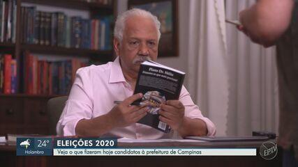 Candidatos a prefeito de Campinas conversam com eleitores, fazem gravação e caminhada