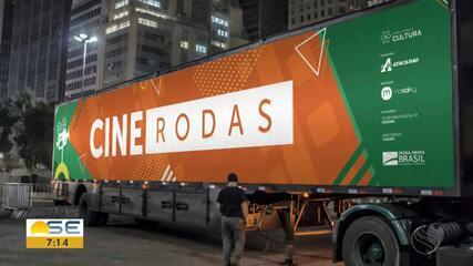 Projeto cultural Cine Rodas traz filmes e desenhos ao ar livre em Aracaju