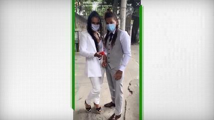 Rafaela Silva e Eleudis Valentim, judocas, se casam no civil nesta quinta