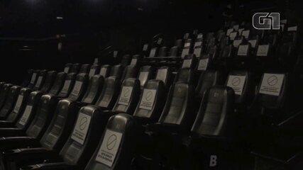G1 acompanha reabertura de cinema em Sorocaba após sete meses fechado