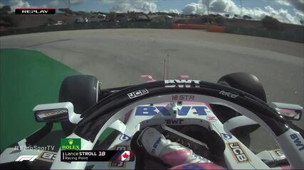 Stroll sai da pista em treino do GP de Portugal