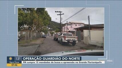 Polícia Militar cumpre 15 mandados de busca e apreensão na Grande Florianópolis