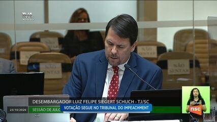Desembargador Luiz Felipe Schuch defende seu voto em plenário na Alesc