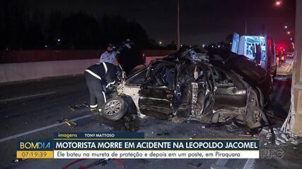 Uma pessoa morre e três ficam feridas em acidente na Leopoldo Jacomel