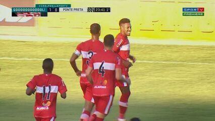 O gol de CRB 1 x 0 Ponte Preta, pela 18ª rodada da Série B