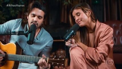 Luan Santana e Giulia Be cantam 'Agua com Áçucar'