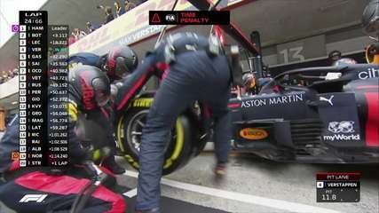 GP de Portugal: Verstappen faz pit stop e troca pneus
