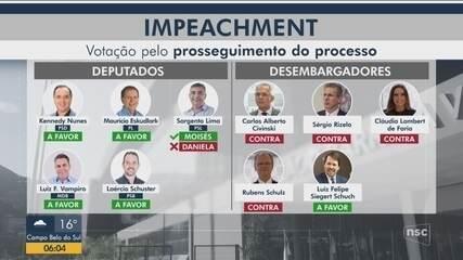 Tribunal de Julgamento aceita denúncia de impeachment contra governador de SC