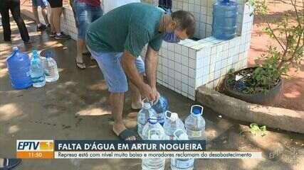 Moradores reclamam de falta d'água em Artur Nogueira