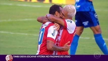 Náutico leva gol no fim e cede empate para Cruzeiro pela Série B