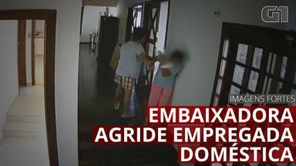 Câmeras de segurança flagram embaixadora das Filipinas agredindo empregada