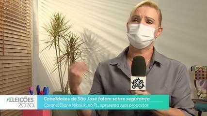 Candidata Coronel Eliane Nikoluk (PL) fala sobre segurança para cidade de São José