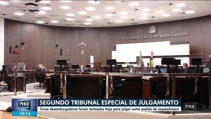 Desembargadores são sorteados para tribunal de julgamento de 2º pedido de impeachment