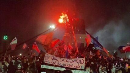 Plebiscito no Chile decide que país vai ter uma nova Constituição