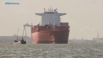 Calado do canal de navegação do porto de Rio Grande recebe a certificação da Marinha