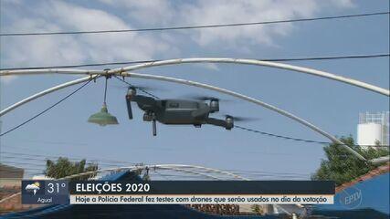 Polícia Federal de Araraquara faz testes com drones que serão usados nas eleições