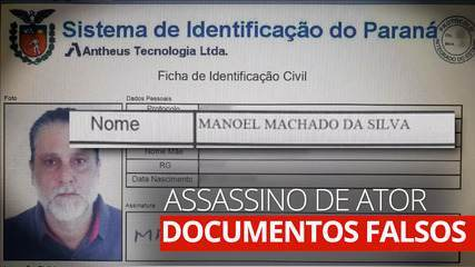Paulo Cupertino, assassino de ator, usa identidade falsa de 'Manoel Machado da Silva'