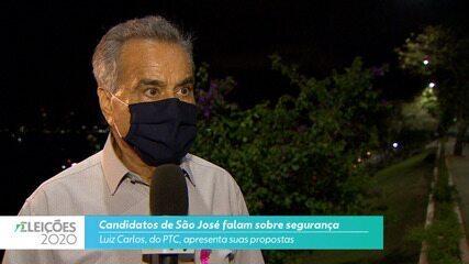 Candidato Luiz Carlos (PTC) fala sobre fala sobre segurança para cidade de São José