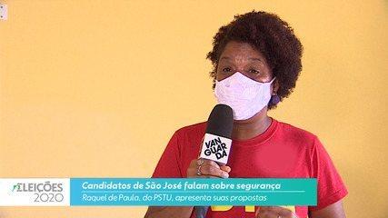 Candidata Raquel (PSTU) fala sobre segurança para cidade de São José
