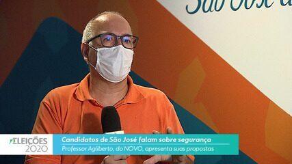 Candidato Professor Agliberto (NOVO) fala sobre segurança para cidade de São José