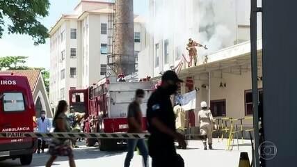 Duas pacientes morrem após incêndio em hospital público no Rio de Janeiro