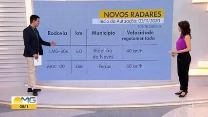 Dois novos radares entram em operação nas rodovias mineiras