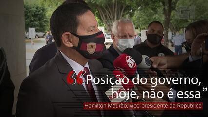 'Posição do governo, hoje, não é essa', diz Mourão sobre plebiscito para nova Constituição