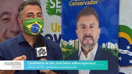 Candidato Senna (PSL) fala sobre a segurança para cidade de São José
