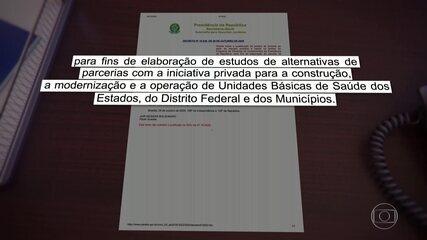 Em menos de 24h, governo publica e revoga decreto sobre privatização de postos de saúde