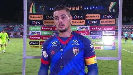 """Autor do gol do Atlético-GO, Jean acredita em reação no jogo da volta: """"Temos mais 90 minutos para reverter"""""""