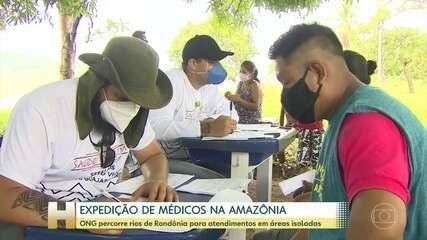 Expedição de médicos na Amazônia
