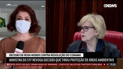 Rosa Weber suspende decis�o do Conama que revogou prote��o a manguezais e restingas