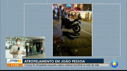 Criança é atropelada no bairro de Bessa, em João Pessoa
