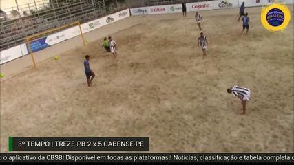 Treze perde mais uma e se complica no Campeonato Brasileiro de Futebol de Areia