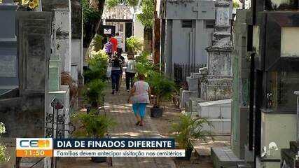Famílias antecipam visitas nos cemitérios
