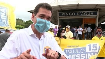Paulo Messina (Pros) faz campanha em Guaratiba