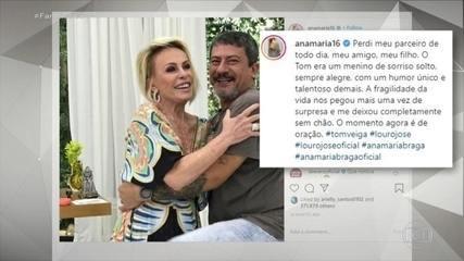 Adeus a Tom Veiga: 'Perdi meu parceiro de todo dia, meu amigo, meu filho', diz Ana Maria
