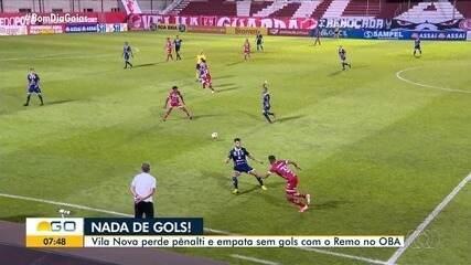 Vila Nova empata sem gols com o Remo
