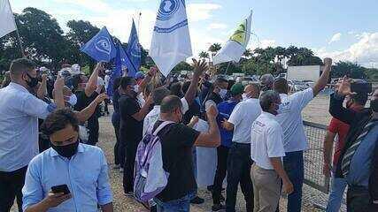 Manifestação em Brasília pela desoneração da folha das empresas