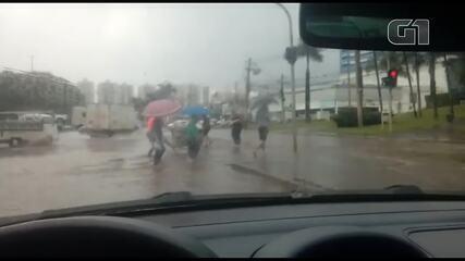 Após forte chuva, ruas do DF ficaram alagadas; em imagem de arquivo