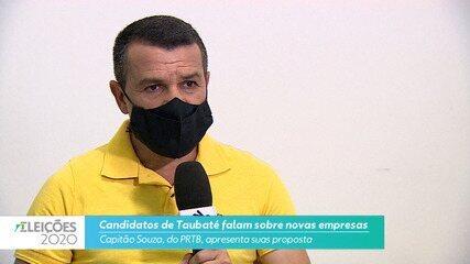 Candidato Capitão Souza (PRTB) fala sobre novas empresas para cidade de Taubaté