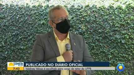 Professor Valdiney Veloso, nomeado reitor da UFPB, dá entrevista ao Bom Dia Paraíba