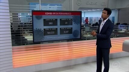 Pernambuco chega a 164.222 casos e 8.687 mortes por Covid-19