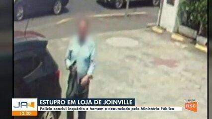 Homem que estuprou jovem em loja de Joinville é denunciado pelo MP